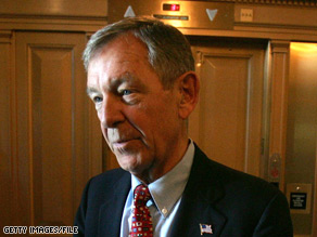 Ohio Republican Sen. George Voinovich has dropped out of bipartisan negotiations for an economic stimulus bill.