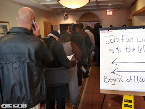 The economy lost close to 600,000 jobs in January.