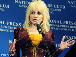 Parton spoke at the National Press Club Tuesday.
