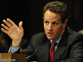 Treasury Secretary Geithner testified before the Senate Banking Committee Wednesday.
