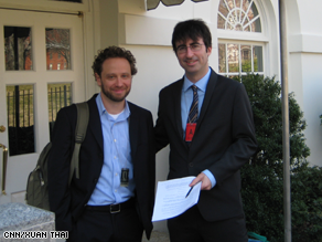 Daily Show Correspondent John Oliver made an appearance at the White House Tuesday..