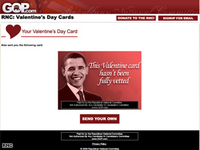Valentines Day greeting from the RNC.
