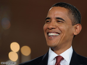 President Obama sent an e-mail to his online backers thanking them for their support of his stimulus plan.