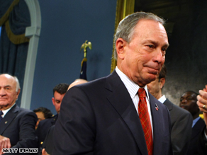 New York City Mayor Michael Bloomberg holds a 10 point lead over his top Democratic challenger.