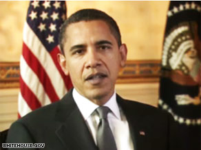 President Obama delivers his weekly address.
