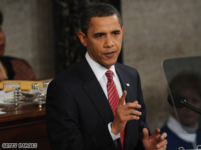 President Barack Obama addresses Congress Tuesday.