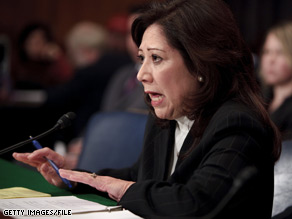 Hilda Solis was recently confirmed as secretary of labor.