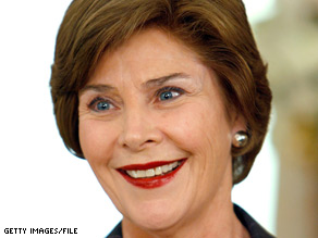 Laura Bush is speaking out on the ongoing situation in Burma.