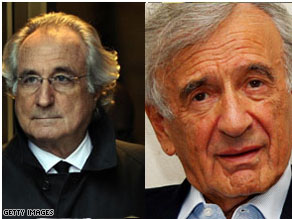Elie Wiesel lost his personal savings Bernard Madoff's alleged Ponzi scheme.
