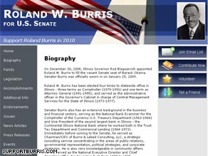 Sen. Burris has a Web site to help with his 2010 re-election bid -- should he decide to undertake one.