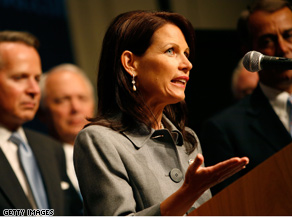 Bachmann sounded the socialism alarm on Thursday.