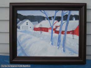 A sample of Bremers art, which favors farm and country scenes.