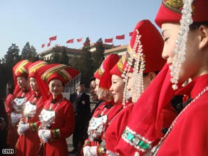 Colourful costumes on display at the congress.