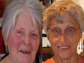 Jack&#039;s grandmothers, Grammie on the left, Yiayia on the right.