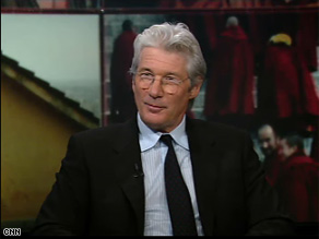 Actor Richard Gere discussed Tibet on The Situation Room with Wolf Blitzer Monday.