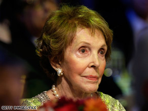 Nancy Reagan endorsed California Senate candidate Carly Fiorina Wednesday.