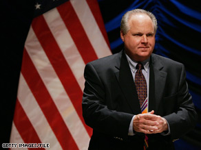 Conservative radio show host Rush Limbaugh received criticism from the DNC for his remarks that he hopes Obama fails.
