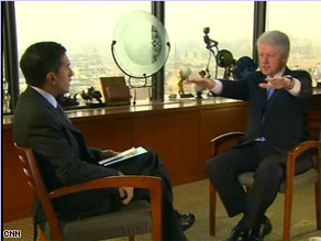 Former President Clinton told CNN&#039;s Dr. Sanjay Gupta that he was concerned when he noticed his hands sometimes shake.  Watch the entire interview Thursday night on Larry King Live.