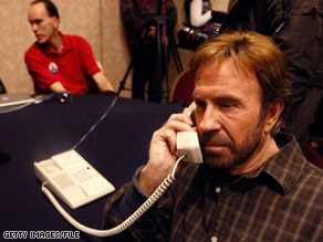 If the State of Texas ever left the Union, Chuck Norris is interested in being president of the newly independent country.