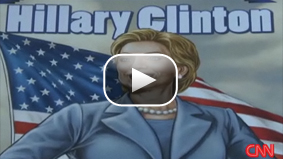 Hillary Clinton featured on the cover of a new comic book
