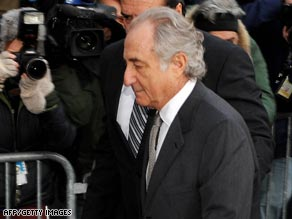 Madoff arrives at court Thursday.