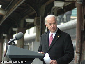 Vice President Joe Biden said Friday he holds summer parties at his home for Amtrak train conductors.