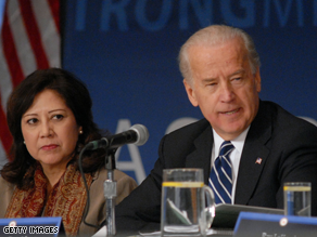 Biden swore in Solis as Labor Secretary Friday.