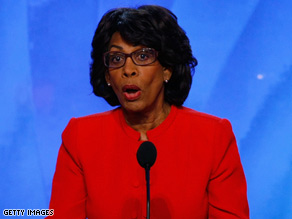 Rep. Maxine Waters, D-California, says she did nothing wrong in accepting help for a minority-owned bank that her husband holds stock in.
