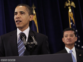 Joined by VA Secretary Eric Shinseki, the president pledged Monday to transform the agency responsible for looking after the nation's veterans.