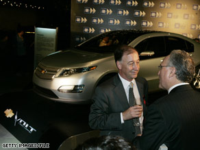 GM China President Kevin Wale, left, attends the unveiling of the Volt sedan in Shanghai last year.