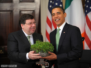 President Obama said he could be related to the Irish Prime Minister.