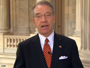 Grassley said he was speaking rhetorically when he said AIG executives 'resign or commit suicide.'