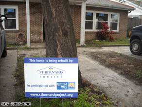 The St. Bernard Project is a nonprofit organization in St. Bernard Parish, Louisiana, that helps people return to their homes that were damaged by Hurricane Katrina.