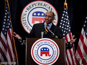 RNC Chairman Michael Steele said Thursday that people in Washington should 'wait to see what she does.'