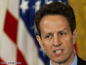 As the furor over AIG bonuses rages on Capitol Hill, a Republican congressman is calling for Treasury Secretary Timothy Geithner to 'resign or be fired.'