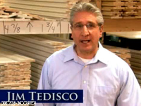 Jim Tedisco's a Republican on the ballot, but not on the airwaves.