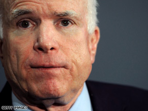 Sen. John McCain blasted President Obama's budget in a statement released Friday.