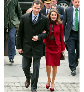 Prince Felipe and Princess Letizia of Spain arrive at The New York Public Library earlier this week.
