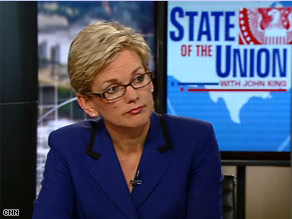 Michigan Gov. Jennifer Granholm made the joke at a Washington dinner on Saturday.