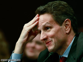 Treasury Secretary Tim Geithner faced a tough room Monday morning.