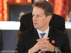 Geithner will host a global finance meeting next week.
