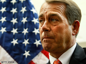 Boehner spoke at a Republican fundraiser Tuesday.