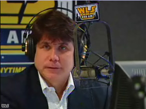 Former Illinois Gov. Rod Blagojevich hosted a two-hour radio program in Chicago Wednesday.