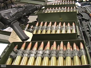 .50 caliber bullets seized by the U.S. feds before they got to Mexico.