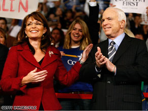 Speaking at the Heritage Foundation Thursday, Sen. McCain acknowledged the political star power of his former running mate Alaska Gov. Sarah Palin.