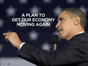 The 30 second spot touts the president&#039;s plans to cut the deficit and create jobs through investment in health care, energy independence, and schools.