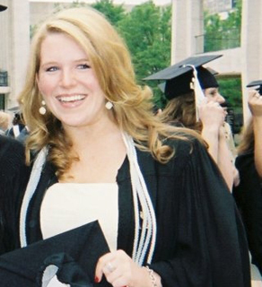 CNN Production Assistant, Samantha Hillstrom, at her graduation in May 2007.