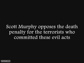 The National Republican Congressional Committee launched a web ad Friday targeting Democratic candidate Scott Murphy, invoking 9/11 to hammer him over his position on the death penalty.