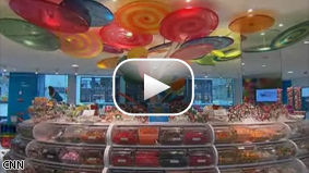 CNN's Alina Cho reports that candy sales are soaring despite the recession.