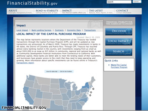 The Treasury Department launched an interactive new Web site Tuesday in an effort to bring about accountability and transparency to the Obama administration's Financial Stability Plan.